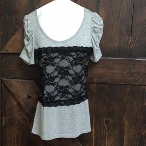 💋 3/$30 Body Central form fit lace middle top